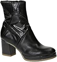 Leonardo Shoes Stivaletti con Tacco Alto in Pelle Nero Artigianali - Codice Modello: 253209 Nero - Taglia: 36