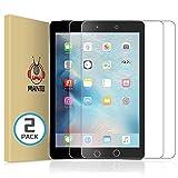 Manto 2-Stücke Panzerglas für iPad 9,7-Zoll, 2018 2017 Modell, iPad Air 1/ iPad Air 2/ iPad 5 / iPad 6 / iPad 7 / iPad Pro 9,7