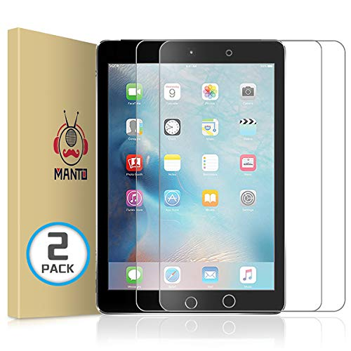"""Manto 2-Stücke Panzerglas für iPad 9,7-Zoll, 2018 2017 Modell, iPad Air 1/ iPad Air 2/ iPad 5 / iPad 6 / iPad Pro 9,7"""", Schutzfolie Gehärtetem Glas Displayschutzfolie"""