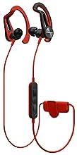 Pioneer SE-E7BT(R) Cuffie In-Ear Bluetooth Sportive con clip (pannello di controllo, microfono, riproduzione 7 ore, resistente all'acqua (IPX4), per iPhone, smartphone Android), rosso
