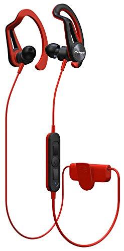 Pioneer e7bt de R Bluetooth Auriculares Deportivos con 7Horas de Tiempo de Unidad, schweis sresitent, Impermeable Rojo
