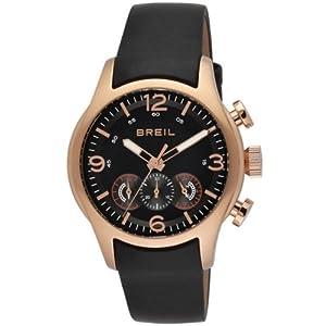 Breil TW0775 - Reloj analógico de caballero de cuarzo con correa de piel negra de Breil