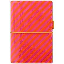 Filofax Domino Personal Orange/Rose Rayures Agenda 23mm A6 Organisateur 022514
