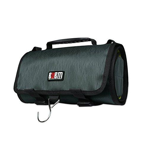 BUBM Kabel Organizer Travel Tool Tragetasche Aufbewahrungsbox Reisetasche Paket-Tool Elektronische Tasche Zubehör Roll Grün Elektronische Komponente Box