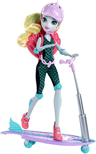 Monster High - DNX06 - Surf-zu-Turf - 2 n 1 Roller / Skateboard mit Lagoona Blue Deluxe Fashion Doll