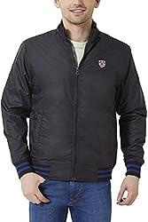 Peter England Mens Regular Fit Outerwear_ EOW51500490_S_ Black