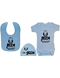 I Am A Jedi, como mi madre antes me Baby Body/Body, alimentación babero y gorro/gorra de 0a 12meses