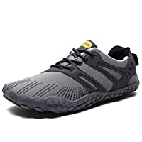XIDISO Mens Minimalist Barefoot Womens Wide Toe Cross Training Gym Walking Hiking Shoe Athletic Sneakers
