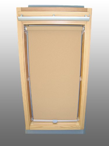 Sichtschutzrollo Rollo für Velux RHL-EP GGL,GPL,GHL,GTL 206 beige-karamell - Vorteil Karamell