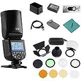 Godox V1S Flash Profesional para cámara Speedlite Speedlight Cabeza Redonda inalámbrica 2.4G Fresnel Zoom para Sony a7RII a7R