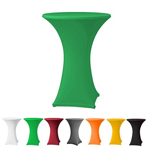Stehtischhusse Stretch in Farbe grün und Durchmesser 80-85 für Bistrotisch/Stehtisch