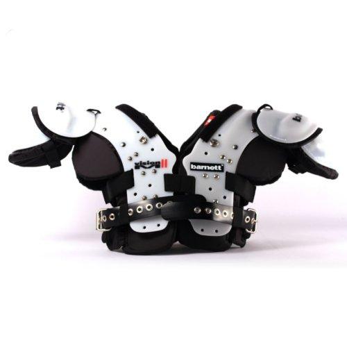 VISION II American Football Schulterschutz, sehr leicht, Gr M, Farbe schwarz