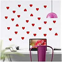 Little Hearts Wall Stickers Living Room Bedroom Baby Nursery Love Heart Wall Decal Kids Room Home Decor Art Wall Decals Poster 5 * 5cm