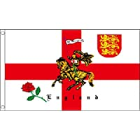 St George Charger, Three Lions Coat of Arms & English Rose / England Supporters. 3 x 2 feet in size - IDEAL SIZE FOR KIDS!