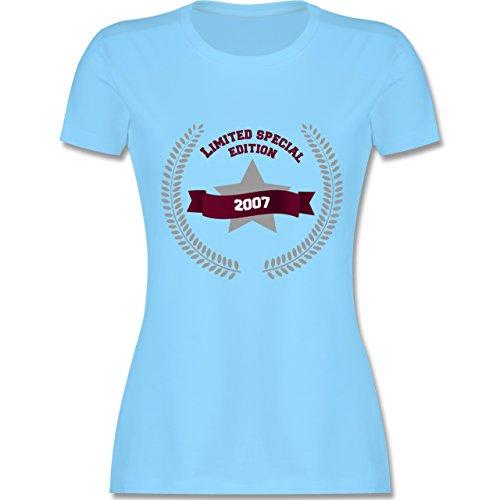 Geburtstag - 2007 Limited Special Edition - tailliertes Premium T-Shirt mit Rundhalsausschnitt für Damen Hellblau