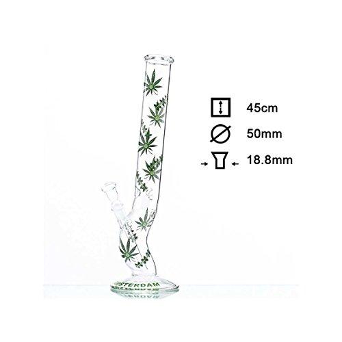 Green XXX Amsterdam Leaf Glass Bong- Ø:50mm- H:45cm- Socket:18.8 Tabakpfeife