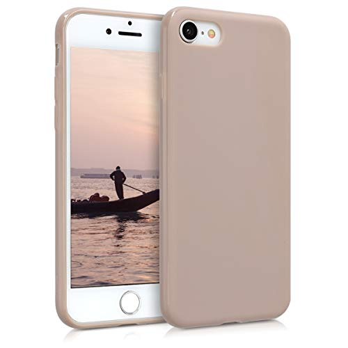 kwmobile Apple iPhone 7/8 Hülle - Handyhülle für Apple iPhone 7/8 - Handy Case in Creme matt