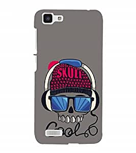 Nextgen Designer Mobile Skin for Vivo Y27 :: Vivo Y27L (Skull Crossed Dangerous Stylish Skull Musical Skull)