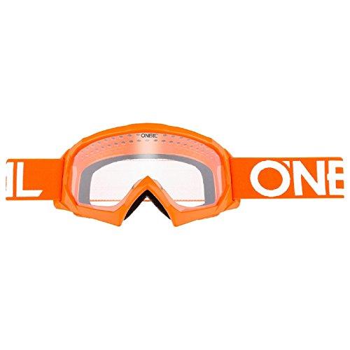 O'Neal B-10 Kinder Solid Goggle Kinder Crossbrille Motocross DH Downhill MX Anti-Fog Glas Youth, 6024-11, Farbe orange