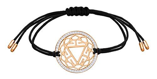 Nenalina Damen Armband mit Solarplexus – Manipura Chakra Anhänger in 925 Sterling Silber rosé-vergoldet mit Swarovski Steinen besetzt 863355-401