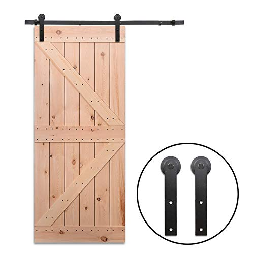 9FT/274cm Schiebe Tür-Hardware-Track-Kit Einzeltür Holztür - Sliding Barn Wood Door Hardware Roller Track Kit For Single Door - Und Schiebe-tür Tür-hardware