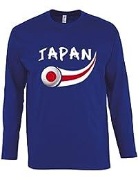 Supportershop T-Shirt Japon L/S Homme, Bleu Royal, FR : L (Taille Fabricant : L)