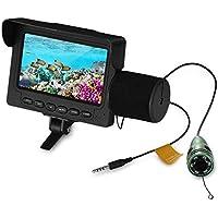 AquRa - Detector de Peces submarinos LED, visión Nocturna, cámara de Pesca, 15 m, Cable 1000 TVL, 4,3 Pulgadas, Monitor LCD 15 m, HD 1000 TVL Fishfinder, Color LED IR