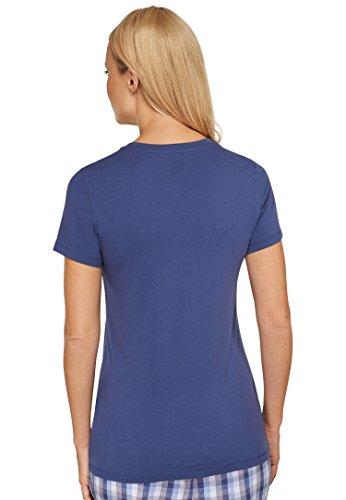 Michaelax-Fashion-Trade - T-shirt de sport - Uni - Manches Courtes - Femme dunkelblau (803)