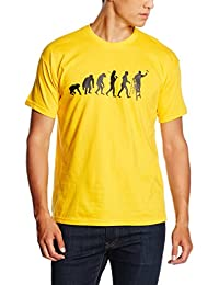 Shirtzshop Herren T-shirt, Gelb, M, sshop-evomaler-t