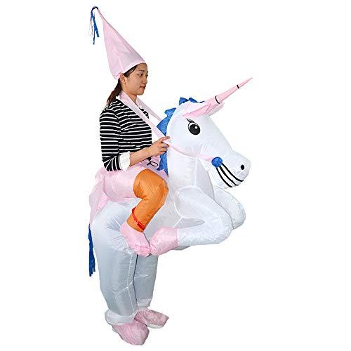 Einhorn Aufblasbar Kostüm - thematys Aufblasbares Einhorn Kostüm - Lustiges