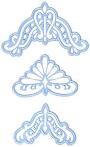 Marianne Design MARLR0285 Anja's Coins Rétros Emporte Pièce Métal Blue 17,10 x 11,6 x 0,5 cm