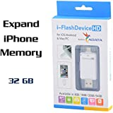 This product will be matched to: USB Flash Drive i-Flash Device HD Memory Stick with Lightning Connector and APP for iPhone 5/5c/5s/6/6plus iPad to Add Extra Storage NK805 - WHITE (32GB)