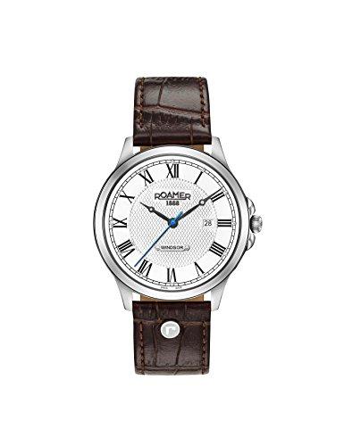 Roamer Herren Datum klassisch Quarz Uhr mit Leder Armband 706856 41 12 07