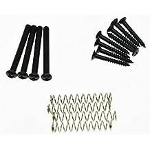 kaish Pastilla Humbucker Kit de tornillos en altura Pickup Anillo Envolvente tornillos de montaje Negro