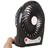 Voltac 3 Speeds Electric Portable Mini Fan Rechargeable Desktop Fan Battery And USB Charge Cable Model 361432