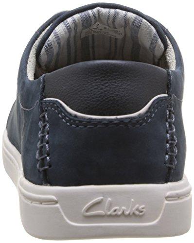 Clarks Newood Street, Baskets homme Bleu (Denim Blue Nbk)