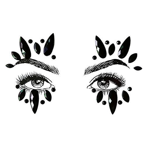 ttoo Gesicht Edelsteine Adhesive Glitter Jewel Tattoo Hochzeit Festival Rave Party Body Make Up ()