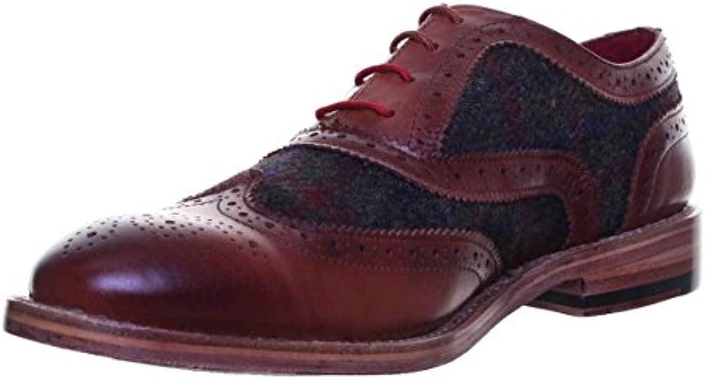 Justin Reece Truman - Zapatos de cordones de Piel para hombre, color Marrón, talla 47 -