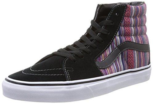 Vans U SK8-HI , Unisex-Erwachsene Hohe Sneakers, schwarz/lila/blau, 36