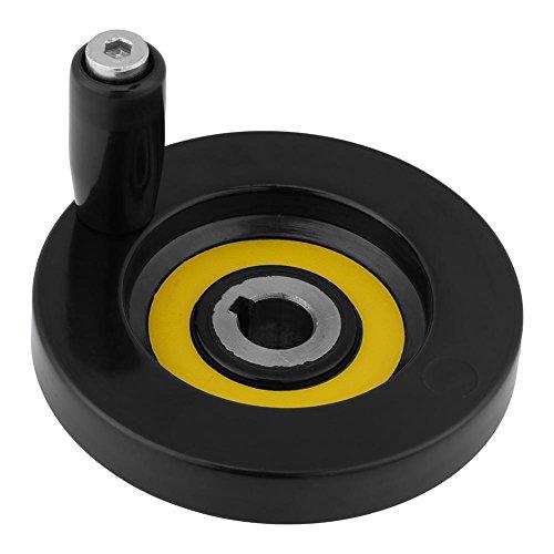 411knYCtXQL - 1 Unids Negro Torno Fresadora Rueda de Mano de Ondulación Trasera con Manija Giratoria(12 * 80mm)