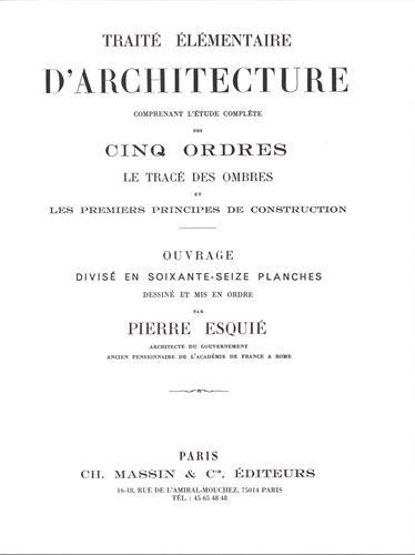 Le traité élémentaire d'architecture