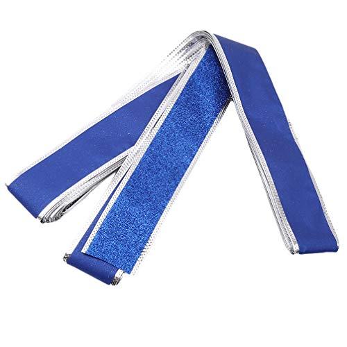 JOMSK Weihnachten Single Face Ribbon Webbing Dekoration Geschenk für Urlaub Familie Dekorationen Zimmer DIY Valentinstag Paket Hochzeit Handwerk, blau