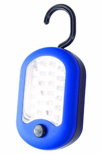 Mountain Warehouse Lanterne de Suspension 24 LED - Lanterne Durable de Jardin Corps ABS, Lampe extérieure Fini Caoutchouc Doux, Ampoule très Lumineuse-Camping, randonnée Bleu Taille Unique