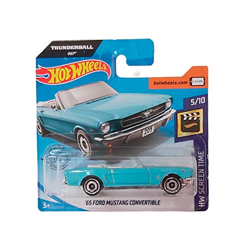 FM Cars Hot-Wheels '65 Ford Mustang Convertible 007 Thunderball HW Screen Time 5/10 2020