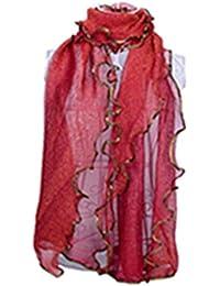 HITSAN INCORPORATION Scarf Silk Scarves Shawl Hijab Shiny Bronzing Foil  Gold Wrap Designer Women Head Scarf a18ef471d94