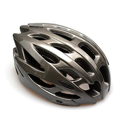 YXNB Fahrradhelm, Verstellbarer Fahrradhelm CE-Zertifiziert, Leicht, Atmungsaktiv Für Erwachsene/Männer/Frauen Road & Mountain Cycling (Größe 54-61 cm),Metallic