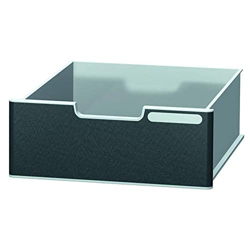 Exacompta Modulodoc Drawer, Black Front Panel, Jumbo Cases – Light Grey/Black
