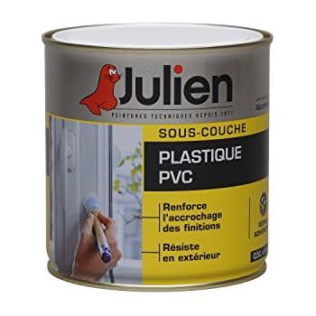 Sous Couche JULIEN Pour Plastiques, PVC   Blanc Mat 0,5L