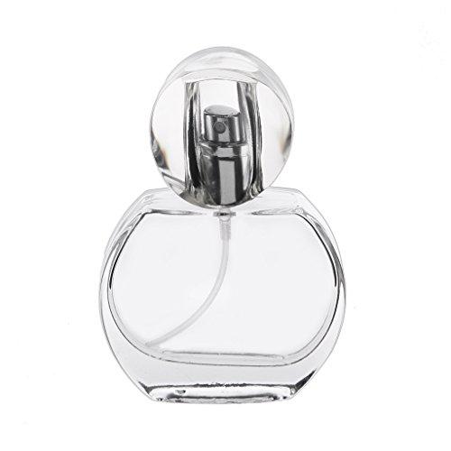 Fenteer 30ml Bouteille de Parfum Vide en Verre Cristal Rechargeable avec Atomiseur Pulvérisation