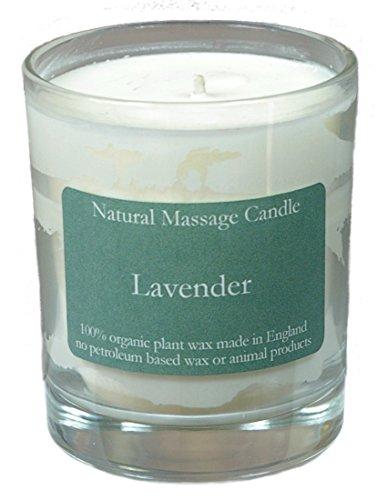 Massage Kerze LAVENDEL aus 100% Pflanzenwachs im recyceltem Glas -